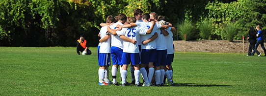LTU's Soccer team Celebrating a Goal